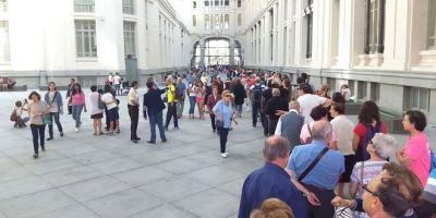 Éxito en la primera jornada de puertas abiertas al Ayuntamiento de Madrid.