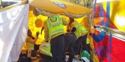 Atropello mortal en Moratalaz. Foto: Emergencias Madrid