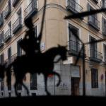 El Caballero de la triste figura recorre el Barrio de las Letras