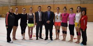 Equipo de gimnasia rítmica, ganadoras de la medalla de bronce