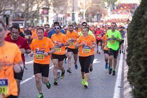 Transporte público en el Medio Maratón Madrid