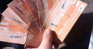 Pago de entrada en los partidos de fútbol base en Madrid