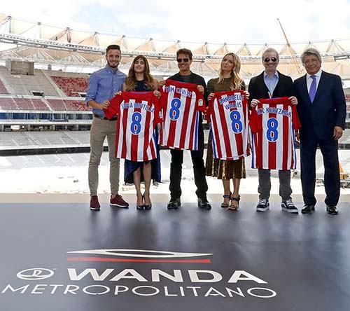 Tom Cruise visita el Wanda Metropolitano