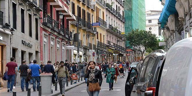Calle Carretas antes de la peatonalización