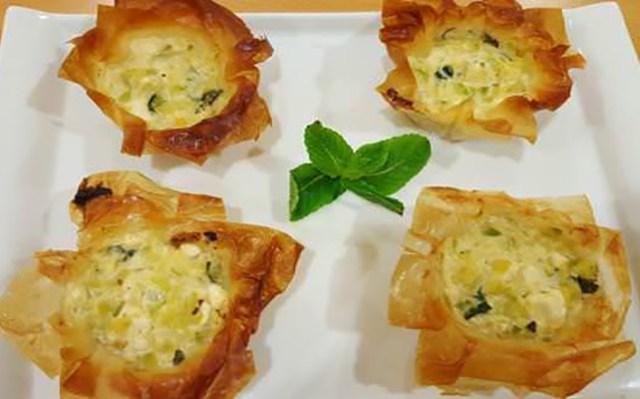 recetas calabacín tartaletas queso