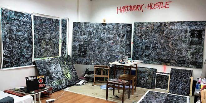 Los artistas del barrio pinturas