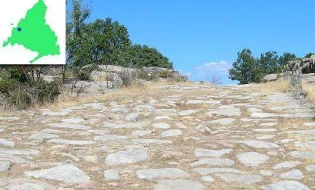 calzada romana el escorial con mapa