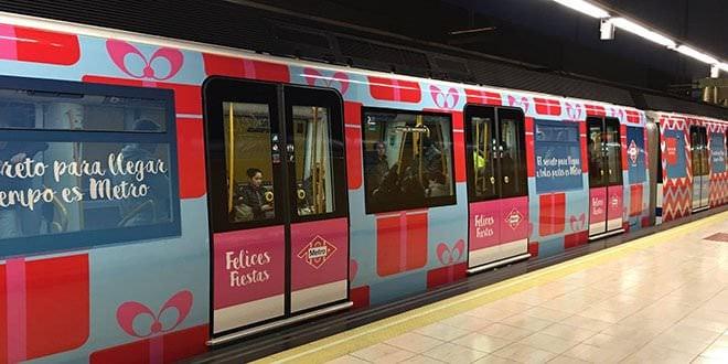 tren de la navidad de metro madrid