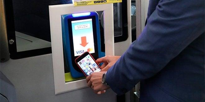EMT pago autobús tarjeta bancaria móvil