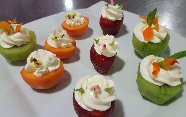 receta frutas rellenas queso