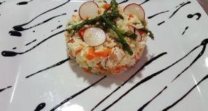 receta ensalada de arroz con pavo y cacahuetes