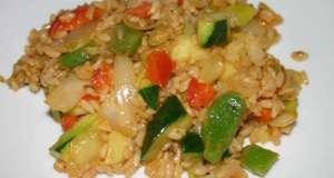 arroz integral con curry