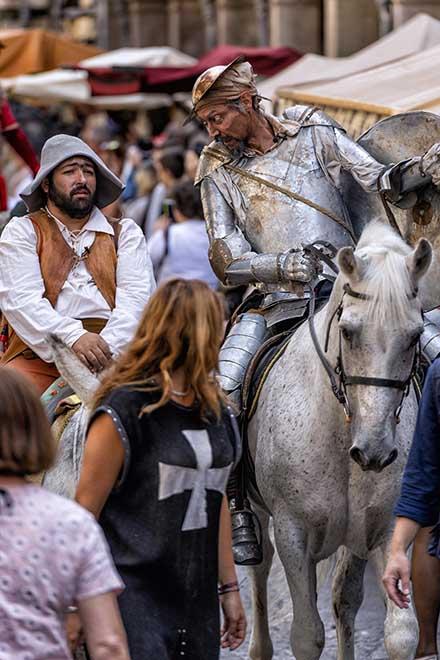 Mercado cervantino Quijote y Sancho