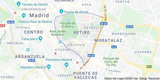 Mapa Ruta guiada el Retiro