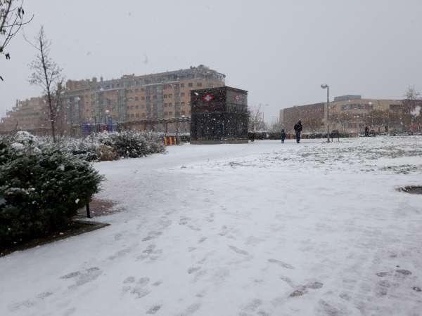 nieve en madrid 2021 parque
