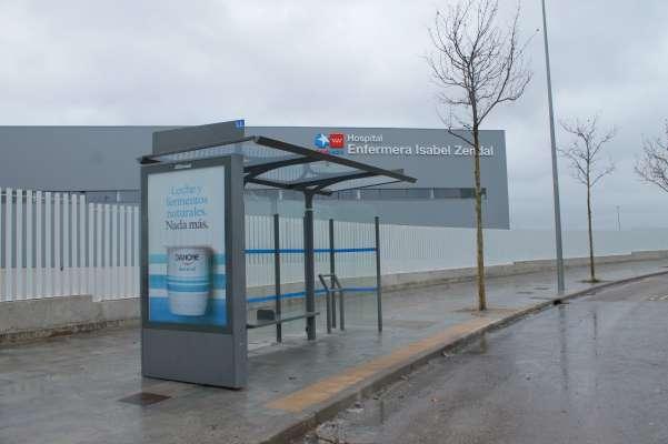 hospital isabel zendal parada autobús