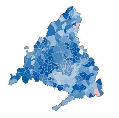 Mapa elecciones autonómicas Madrid
