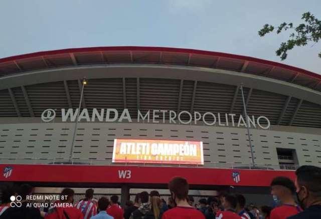 celebración atlético liga wanda luces estadio
