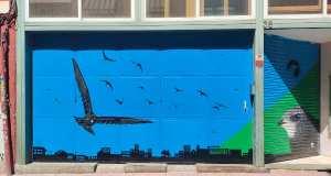 Mural vencejo ONG SEO