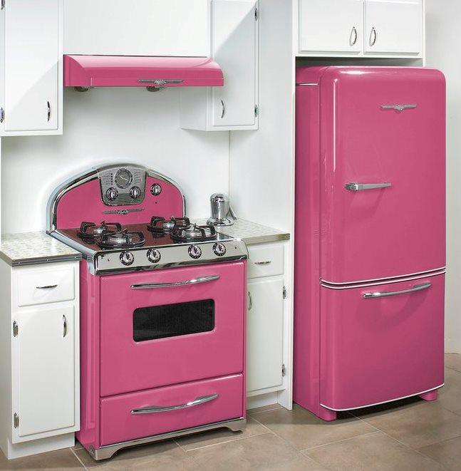 Ordinaire The Northstar Collection Is A Fan Favorite Due To Its Sleek 1950s Retro  Curves And Chrome Accents, As Seen In This Sweet, Cheerful Pink Kitchenette.