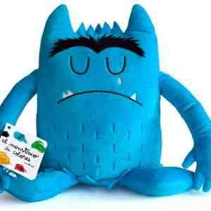 peluche del monstruo de colores azul