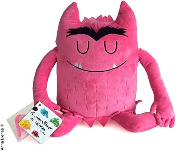 peluche del monstruo de colores rosa