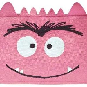 estuche del monstruo de colores rosa