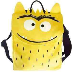 mochila del monstruo de colores amarillo