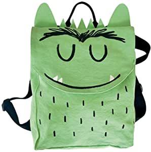 mochila del monstruo de colores verde