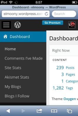 Tampilan Wordpress Admin Responsive