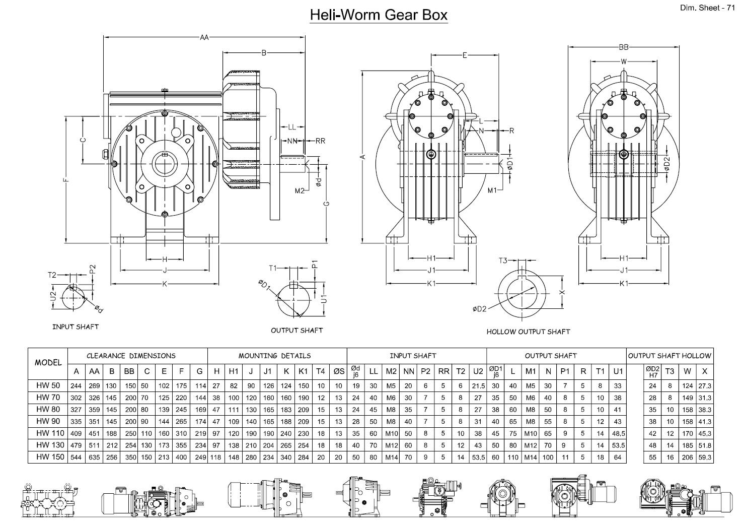 Heli Worm Gear Box
