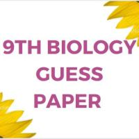 9th Biology Guess Paper for Annual Examination