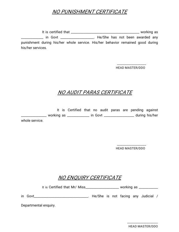 SED Regularization No Punishment, Enquiry, Audit paraa Certificate