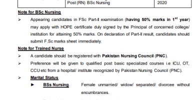 AFNS JOIN PAKISTAN ARMY IN ARMED FORCES NURSING SERVICE