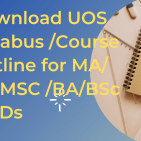 UOS SyllabusCourse Outline for MABSMSCBABSc & ADs