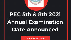 PEC 5th & 8th 2021 Annual Examination Date Announced