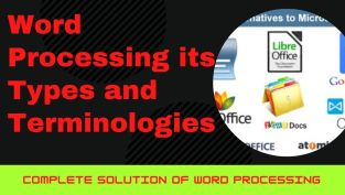 Word Processing softwares its Types and Terminologies