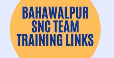 Bahawalpur SNC Team Training Links