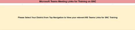Get SNC MS Team Training Link