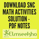 Download SNC Math Activities Solution