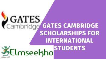 Master-PhD Gates Cambridge Scholarships for International Students
