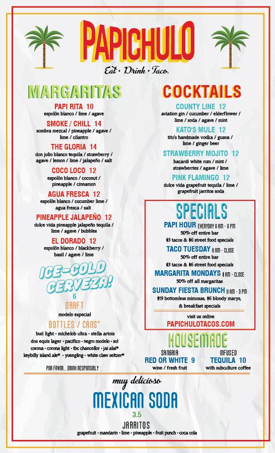 tacos papichulo menu by nicole david