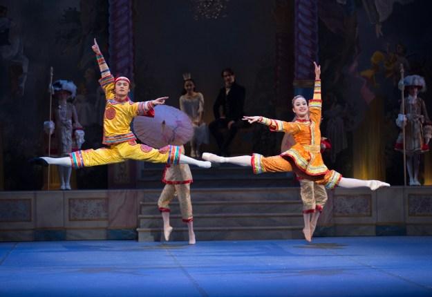 Junxiong Zhao and Diana Albrecht in Mikko Nissinen's The Nutcracker; photo by Rosalie O'Connor, courtesy of Boston Ballet