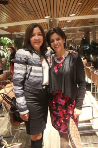 Aixa Beauchamp of the Latino Legacy Fund and Jacqui Conrad of Cambridge College.