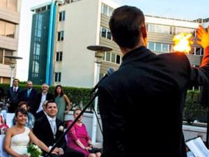 espectáculo de boda