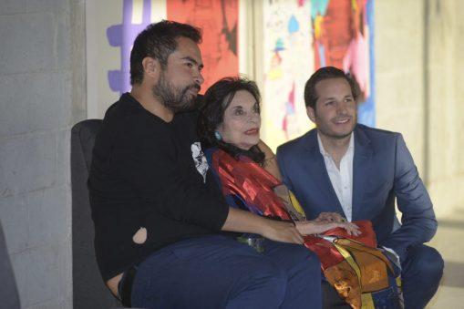 Octavio Avendaño, Lorraine Pinto y Patricio Navarro