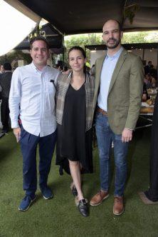 Andrés Lebrija, María Pallares y Rodrigo Braun