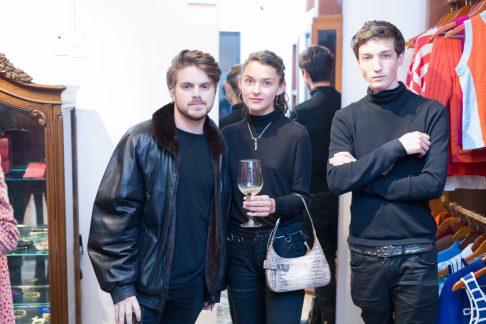 14 noviembre 2018, 3er aniversairo Boutique Void, Condesa. Luis Val, Paulina Maza y Javier Amescua Fotos : Heptor Arjona
