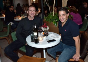 EVENTO: Cena de Accion de Gracias en el Hotel Condesa DF, Roma, 22 de Noviembre de 2018, Fotos. Veronica Gardu–o Soto. Pie de Foto: Roberto Fantauzzi y Alan Bond