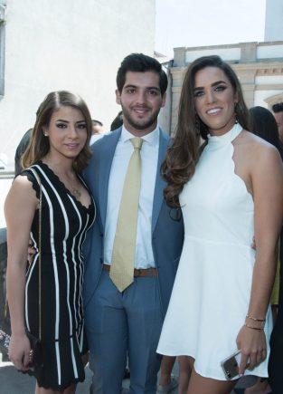 Zayne Hierro, Juan Pablo Reyes y Maria Fassi